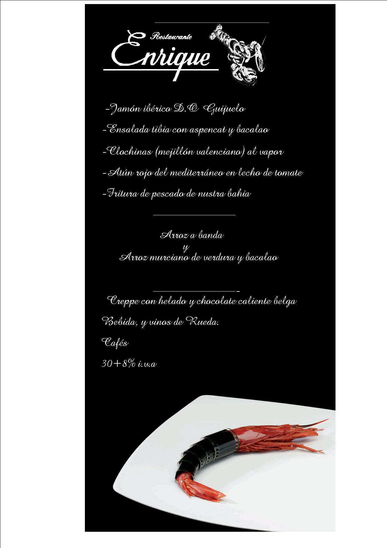 Menu Restaurante Enrique