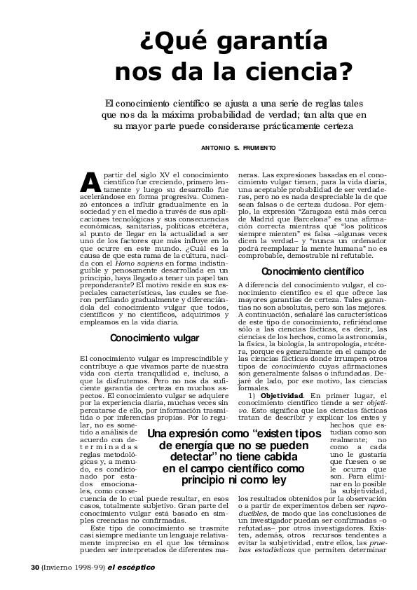 Opiniones de Artículo científico