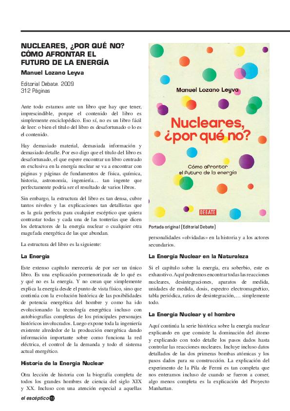 Nucleares Por Qué No Cómo Afrontar El Futuro De La Energía
